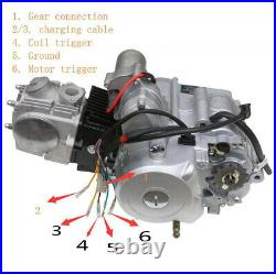 125cc 3+1 Semi Auto Engine Motor Kit Electric Start ATV Quad Bike Buggy Go Kart