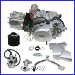 125cc 4-stroke Engine Motor Kit Semi Auto Electric Start Reverse For ATV Go Kart