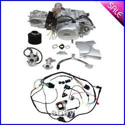 125cc ATV Engine Motor Kit Semi Auto Reverse for TRX70 Redcat 50cc 110cc Quad