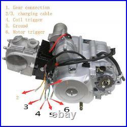 125cc ATV Semi Auto 3+1 Engine Motor Exhaust Kit Wiring Quad Bike Go Kart 110cc