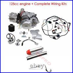 125cc Engine Motor Kit Semi Auto Electric Start 3+1 Reverse for ATV QUAD GO KART