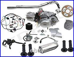 125cc Semi Auto Engine Motor Kit Carb, Wire, Exhaust Reverse ATV Quad Tricycle