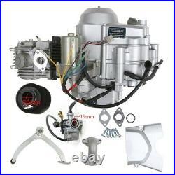 125cc Semi Auto Engine Motor Kit Reverse Wire Exhaust for ATV Quad ATC70 Go Kart