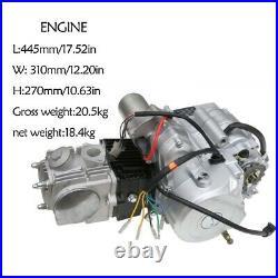 125cc Semi Auto Engine Motor Kit with Carb Parts fr ATV Quad 4 Wheeler UTV Go cart