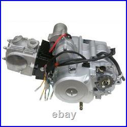 12V 125cc Semi Auto Engine Motor Battery Kit Reverse 3+1 Go Kart ATV Quad Buggy