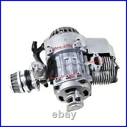 49cc 2 Stroke Engine Motor Kit + Electric Start Motor Fo Pocket Bike Scooter ATV