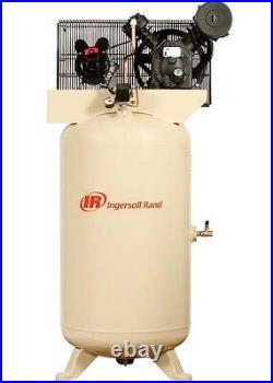 Air Compressor & Start Kit 80 Gallon 460V 5 HP 175 PSI 3 Ph 14 CFM