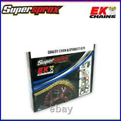 EK Chain and SuperSprox Sprocket Kit For Honda XR650L ELECTRIC START 00-16