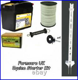 Electric Fencing Equine Starter Kit TALL POSTS everything you need to start