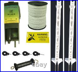 Electric Fencing / Fence Paddock 4FT Kit, Free P&P Complete Kit To Get Started