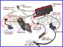 For Gx390 13hp 2011-present Electric Start Kit Flywheel Starter Motor Key Box