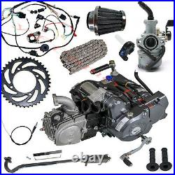 Lifan 125cc 4 Stroke 4UP ATV Engine Motor Semi Auto Electric Kick Start with Kits