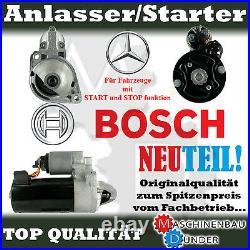 MERCEDES BENZ C-Klasse GLK VITO Sprinter BOSCH 1,8kW ANLASSER STARTER NEU NEW