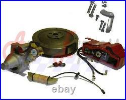 New Honda Gx240 8hp 9hp Electric Start Kit Starter Motor Flywheel On/off Switch