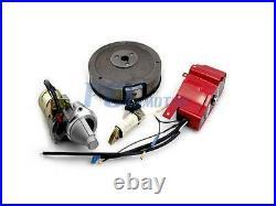 Non Oem Electric Start Kit Starter Motor Flywheel Switch Gx340 Gx390 I St19+