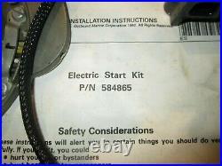 OMC Johnson Evinrude Electric Start Kit 9.9 15 2 Stroke 93 & Up 586398 584865